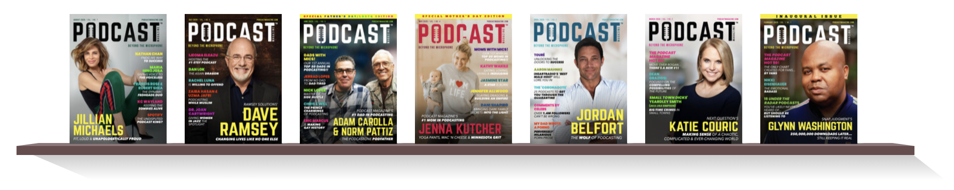 Podcast Magazine Bookshelf